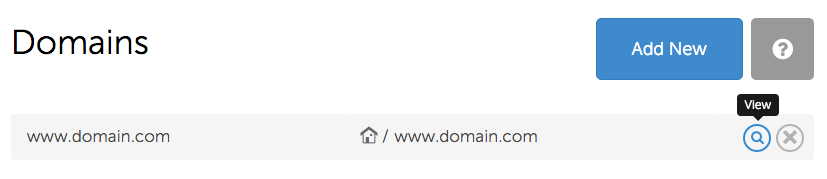 Domain View
