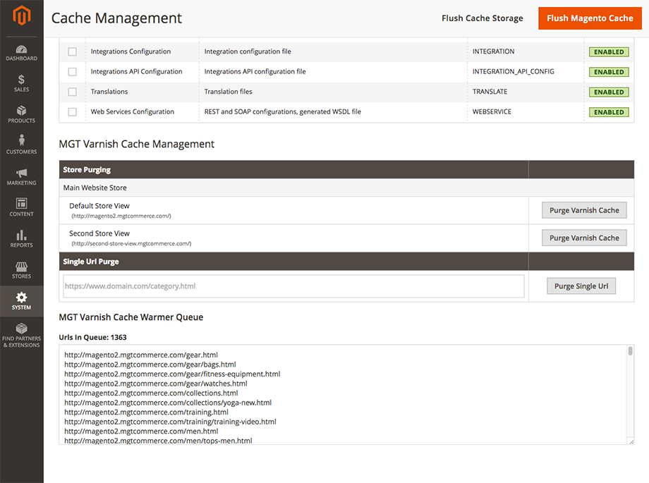 MGT Varnish Cache Management